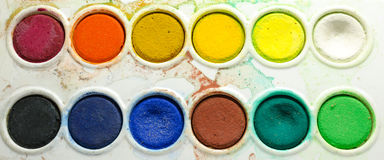 Water color palette Royalty Free Stock Images