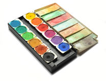 Water color palettes Royalty Free Stock Photo