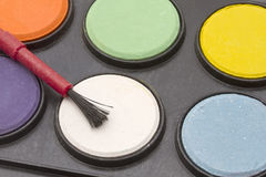Water color palettes Stock Photo