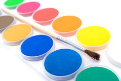 Water color palettes isolated Royalty Free Stock Image