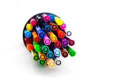 Water color pens. On the white background Royalty Free Stock Images