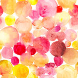 Water color  seamless abstract hand drawn watercolor spot pattern. Stock Photos