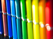 Water Color in small Glass Vials Royalty Free Stock Photos
