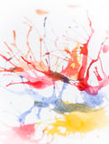Water color splash Royalty Free Stock Photos