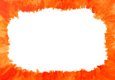 Water color texture. Red and Orange Water Color Paint Texture.Room for text Stock Images