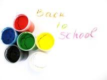 Water-colors coloridos, de volta à escola fotografia de stock royalty free