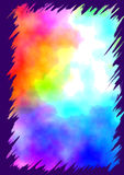 Water colors with jagged border Royalty Free Stock Photos
