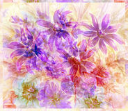 Water colour, abstract flowers Stock Photos