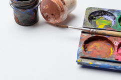 Water colour and gouache of paint Royalty Free Stock Photos