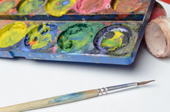 Water colour and gouache of paint Royalty Free Stock Image