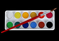 Water colour paint Stock Photos