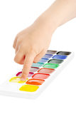 Water colour paints Stock Image