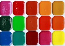 Water colour paints Stock Photos