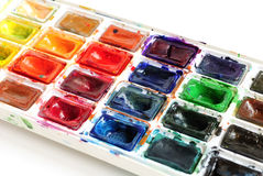 Water colour paints Royalty Free Stock Image
