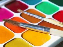 Water colour paints Stock Images