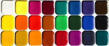 Water colour paints Stock Image
