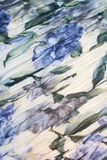 Water colour pattern from blue flowers on a fabric Royalty Free Stock Photo