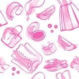 Water-colour senza giunte sveglio di colore rosa di modo Immagini Stock Libere da Diritti