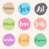 Water colour style of retro label templates Royalty Free Stock Image