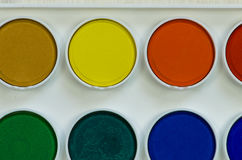 Water-colours palette Royalty Free Stock Photo