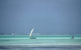 Water colours,Zanzibar,Tanzania Stock Photo