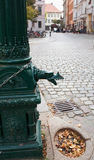 Water column in the old quarter. Of Berlin stock images