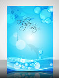 Water Concept Flyer Design Royalty Free Stock Photo