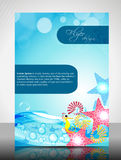 Water Concept Flyer Design Stock Photo