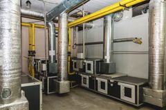 Water conditioning room Royalty Free Stock Photos