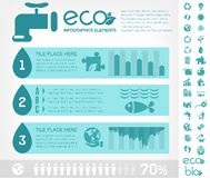 Water Conservation Infographic Template Royalty Free Stock Image