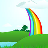 Natural Rainbow Landscape Stock Photo