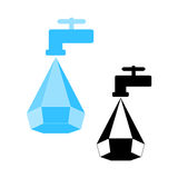 Water conservation logo Royalty Free Stock Images