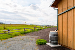 Water Conservation : Rain Barrel Stock Images