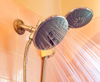 Water Conserving Shower Head Stock Image
