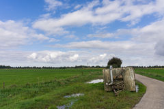 Water container on Dutch farmland Stock Photography