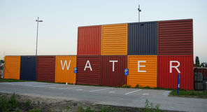 Water containers in Amsterdam Stock Images