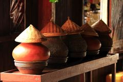 Water containers made of pottery. royalty free stock photography
