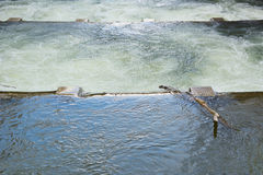 Water Control with Spillway Stock Image