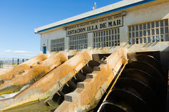 Water control station at delta of Ebro Stock Photo