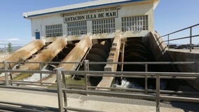 Water control station at delta of Ebro stock video footage