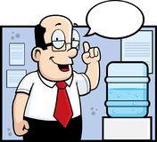 Water Cooler. A man giving advice in front of a watercooler Royalty Free Stock Photography