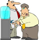 Water Cooler. This illustration depicts two office workers talking by the water cooler Royalty Free Stock Photos