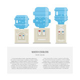 Water coolers flat Stock Photos