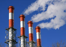Water-cooling pipes. Of the energy station Stock Photography