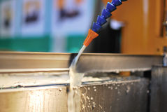 Water cooling at production line Stock Photography
