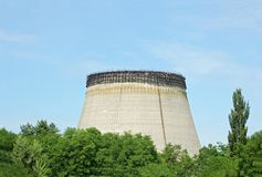 Water cooling towers of Chernobyl nuclear plant Royalty Free Stock Photography