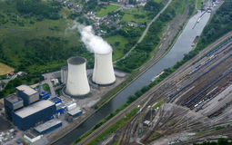 Water-cooling towers Royalty Free Stock Photos
