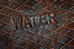 Water Cover Lid Manhole Utility Royalty Free Stock Photo