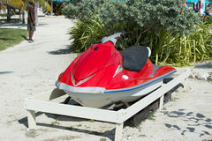 Water craft parked on ground Royalty Free Stock Photo