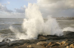 Water Crash on rocks Stock Photo
